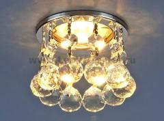 2051-C CH/Clear (хром / прозр. хрусталь) Электростандарт Светильник точечный с хрусталем