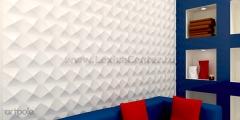 3D Дизайнерская панель из гипса Artpole AURA, 600x600 мм, 0,36 м2 (арт.M-0011)
