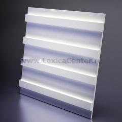 3D Дизайнерская панель из гипса Artpole PARALINE S, 600x600 мм, 0,36 м2 (арт.M-0031)