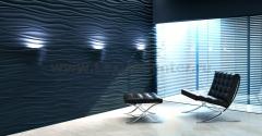 3D Дизайнерская панель из гипса Artpole SILK-2 LED RGB 2 модуля  с радиопультом, 600x600 мм, 0,36 м2 (арт.D-0002-3)