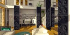 3D Дизайнерская панель из гипса Artpole SOUND, 600x600 мм, 0,36 м2 (арт.M-0003)
