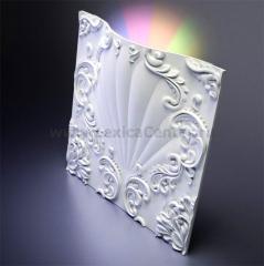 3D Дизайнерская панель из гипса Artpole VALENCIA LED 2 модуля RGB с радиопультом, 600x600 мм, 0,36 м2 (арт.М-0039-1)