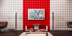 3D Дизайнерская панель из гипса Artpole ZOOM, 600x600 мм, 0,36 м2 (арт.M-0020)
