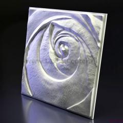 3D Дизайнерское панель из гипса Artpole ROSE - Пятый элемент, 600*600мм, 0,36м2 (арт.М-0044-5)