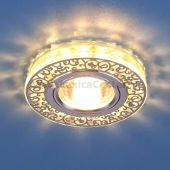6034 MR16 CH/CL хром/прозрачный Электростандарт Точечный светодиодный светильник с хрусталем