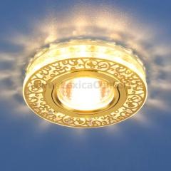 6034 MR16 GD/CL золото/прозрачный Электростандарт Точечный светодиодный светильник с хрусталем