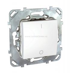 ABB Cosmo Титаниум Переключатель 1 кл. сх. 6 с подсв. (619-011400-210)