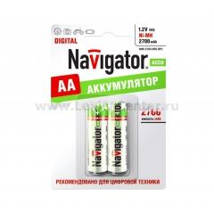 Аккумулятор AA Navigator 94 465 2700Mh (2шт)