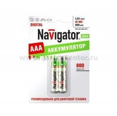 Аккумулятор AAA Navigator 94 461 NHR-800Mh (2шт)