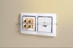 Акустическая розетка (белый) Werkel белый WL01-AUDIOx4