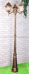 Altair F/3 черное золото Электростандарт Светильник трехрожковый на столбе