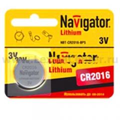 Батарейка CR2016 Navigator 94 763