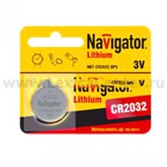 Батарейка CR2032 Navigator 94 765