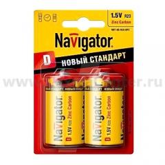 Батарейка D Navigator 94 769 NBT-NS-R20-BP2