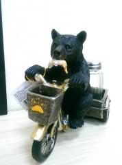"""BS05568 Солонка """"Медведь с тележкой"""""""