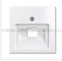 Центр. плата для телефонной/компьютерной розетки альпийский белый Basik 55 (ABB) [BJB 1803-94] 1753-0-0096