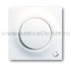 """Центр. плата с символом """"свет"""" с клавишей и лампой альпийский белый impuls (ABB) [BJE1789 LI-74] 1753-0-4815"""