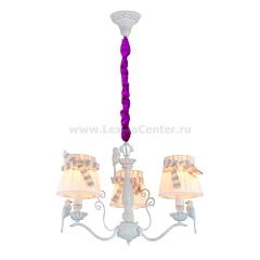 Чехол для люстры бархатный фиолетовый