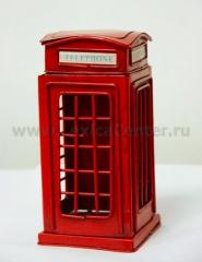 "CJ13102 Сувенир ""Телефонная будка"", 31*13*13см, металл"