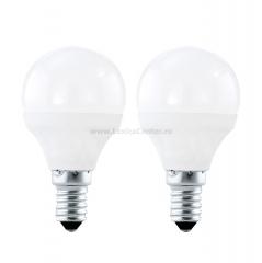 Eglo 10775 Лампа светодиодная P45, 2х4W (Е14), 3000K, 320lm, 2шт. в комплекте