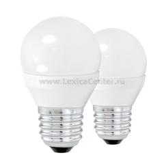 Eglo 10777 Лампа светодиодная G45, 2х4W (Е27), 3000K, 320lm, 2 шт. в комплекте