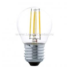 Eglo 11498 Лампа светодиодная филаментная G45, 4W (E27), 2700K, 350lm, прозрачный