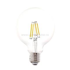 Eglo 11502 Лампа светодиодная филаментная G95, 4W (E27), 2700K, 350lm, прозрачный