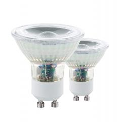 Eglo 11527 Лампа светодиодная СOB, 2х3,3W (GU10), 4000K, 240Lm, 2 шт. в комплекте