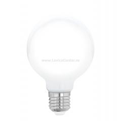 "Eglo 11598 Лампа светодиодная филаментная ""Милки"" G80, 8W (E27), 2700K, 806lm, опал. стекло"