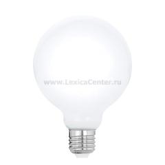 "Eglo 11601 Лампа светодиодная филаментная ""Милки"" G95, 8W (E27), 2700K, 806lm, опал. стекло"