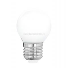 "Eglo 11605 Лампа светодиодная филаментная ""Милки"" G45, 4W(E27), 2700K, 470lm, опал. стекло"