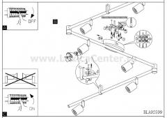 Eglo BUZZ-LED 92599 Светильник поворотный спот