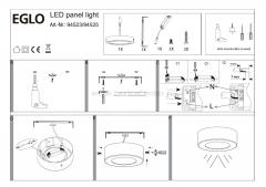Eglo FUEVA 1 94523 Встраиваемые и накладные светильники