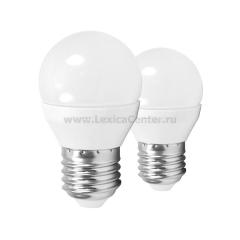 EGLO ИС 10778 Лампа светодиодная G45, 2х4W (Е27), 4000K, 320lm, 2 шт. в комплекте