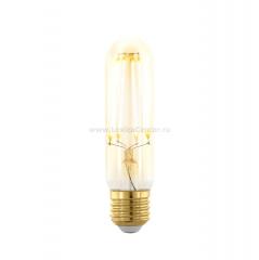 EGLO ИС 11697 Лампа светодиодная филаментная диммируемая T32, 4W (E27), 1700K, 320lm, золотая