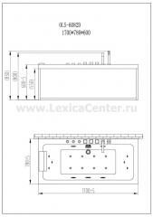 Гидромассажная ванна OLS-6082D-BLACK