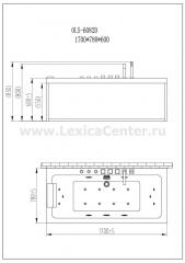 Гидромассажная ванна OLS-6082D-WHITE