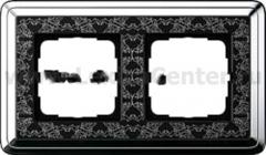 Gira ClassiX Art Хром/Черный Рамка 2-ая (G212682)