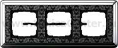 Gira ClassiX Art Хром/Черный Рамка 3-ая (G213682)