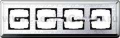 Gira ClassiX Art Хром/Хром Рамка 4-ая (G214681)