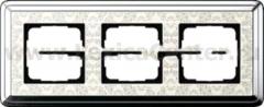 Gira ClassiX Art Хром/Кремовый Рамка 3-ая (G213683)