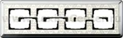 Gira ClassiX Art Хром/Кремовый Рамка 4-ая (G214683)