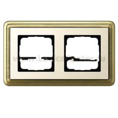 Gira ClassiX Бронза/Кремовый Рамка 2-ая (G212623)