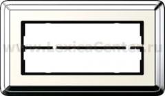 Gira ClassiX Хром/Кремовый Рамка 2-ая без перегородки (G1002643)