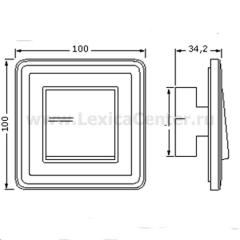 Gira ClassiX Латунь/Черный Рамка 1-ая (G211632)