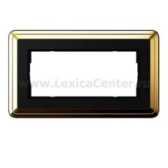 Gira ClassiX Латунь/Черный Рамка 2-ая без перегородки (G1002632)