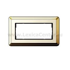Gira ClassiX Латунь/Кремовый Рамка 2-ая без перегородки (G1002633)