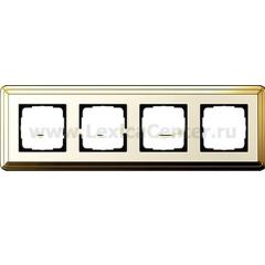 Gira ClassiX Латунь/Кремовый Рамка 4-ая (G214633)