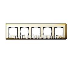 Gira ClassiX Латунь/Кремовый Рамка 5-ая (G215633)
