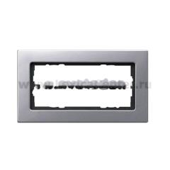 Gira E22 Алюминий Рамка для комбинаций без перегородки (G1002206)